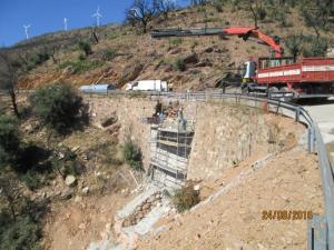 Obras en la carretera entre Lújar y Motril.