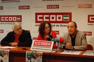 De izquierda a derecha, Ricardo Flores, Nuria López y Carlos Bravo.