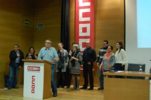 Féliz Alonso y el resto de la nueva ejecutiva del sindicato.