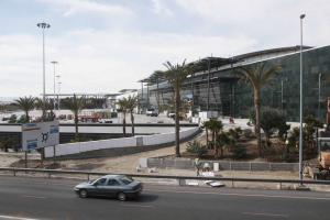 Obras en el centro comercial Nevada.