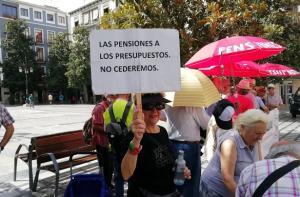 Concentración de este lunes en la Plaza del Carmen.