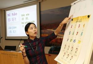 Entre las actividades, cursillos de Lengua China y talleres de Caligrafía.