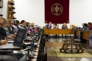 Consejo de Gobierno de la UGR celebrado este martes.