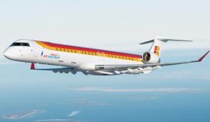 Reactor CRJ de la filial de Iberia Air Nostrum.