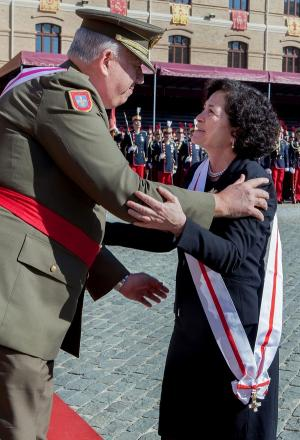 Pilar Aranda tras recibir la Gran Cruz.