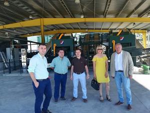 El delegado de Agricultura de la Junta en su visita a San Isidro.