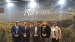 Representantes de la Diputación, este miércoles en Fitur.