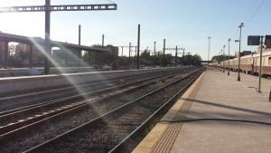 Imagen de la estación de tren de Granada durante las obras del AVE.