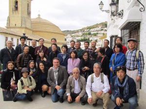 Representantes de los touroperadores japoneses, en Montefrío.