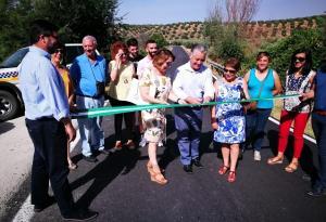 Inauguración de la renovada carretera.
