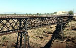 Puente del Arroyo de Baúl en la línea férrea Guadix-Baza.
