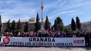 Concentración sindical este viernes contra los accidentes laborales.