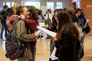 Estudiantes durante una convocatoria anterior.