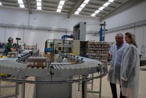 Visita a la nueva planta de la empresa.