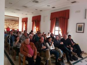 Representantes de organizaciones agrarias en la sesión informativa sobre las ayudas.