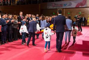 El Rey ha presidido la gala inaugural de los Campeonatos del Mundo Sierra Nevada 2017.
