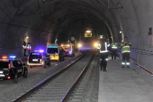 Simulacro en el túnel de Archidona.