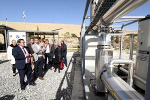Inauguración de la planta de biogás.