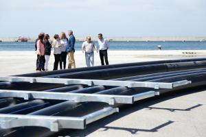 Imagen de las estructuras para los proyectos de acuicultura.