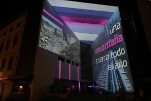 La nueva imagen se ha proyectado sobre el Centro Lorca.