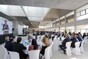 El presidente de Bankia, José Ignacio Goirigolzarri, durante el desayuno informativo.