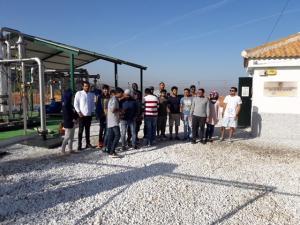 Los estudiantes durante su visita.