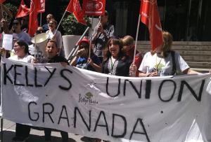 Una de las protestas realizada por las kellys del hotel.
