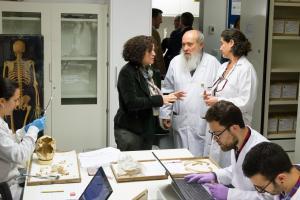 El laboratorio que dirige Miguel Botella reúne más de 5.000 esqueletos de todas las épocas, desde el Neolítico.