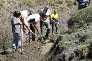 Las acequias de alta montaña recuperadas llevaban 35 años abandonadas.