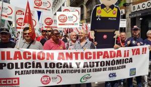 Imagen de la gran movilización celebrada en Madrid para reclamar la jubilación anticipada.