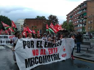 Imagen de la manifestación celebrada hoy.