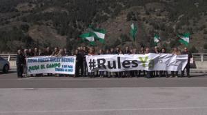 Concentración de Granada en Marcha en Rules el 28F de 2016.