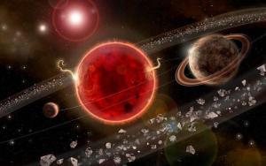 Recreación artística del sistema en torno a Próxima Centauri.