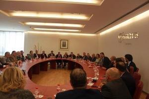 Reunión pasada del pleno de la Cámara y la junta directiva de la CGE.