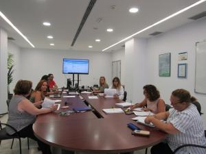: Reunión de la Dirección de Profesionales de la Agencia Sanitaria Poniente y los representes de los sindicatos para la firma de las bases reguladoras de la convocatoria.