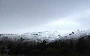 Aspecto de Sierra Nevada esta mañana.