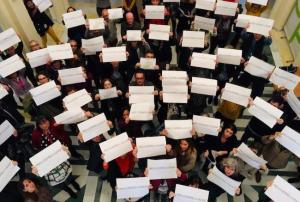 Trabajadores de la EASP, en lucha.
