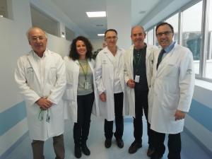 Profesionales de la consulta de oncocardiología.