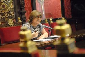Ana Muñoz, en rueda de prensa.
