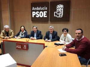 Reunión celebrada este miércoles en la sede del PSOE.