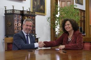 El presidente del Puerto y la rectora de la UGR.