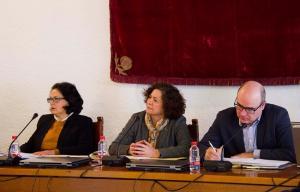 La rectora, Pilar Aranda, ha presidido este lunes una reunión extraordinaria del Consejo de Gobierno.