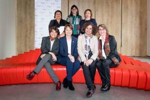 Seis rectoras, entre ellas Pilar Aranda, han participado en el encuentro organizado por la Fundación CYD.