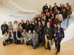 Foto de familia de los participantes en los cursos.