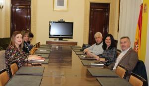 Reunión de COO y UGT con la subdelegada del Gobierno.