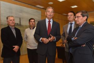 Entrena se ha reunido con el acalde de Escúzar y el presidente del Parque Metropolitano.