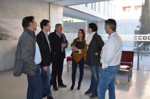 García Sempere con representantes de IU y CCOO Granada.