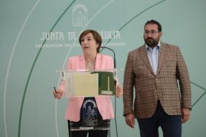 Sandra García y Germán González, en rueda de prensa.