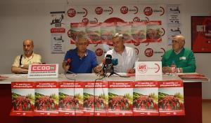 Rueda de prensa de presentación de la marcha sindical.