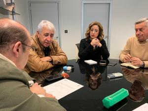 Un momento de la reunión con Sebastián Pérez.